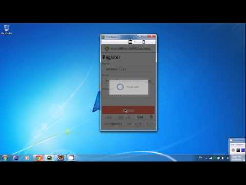 Android RESTful Webservice Demo