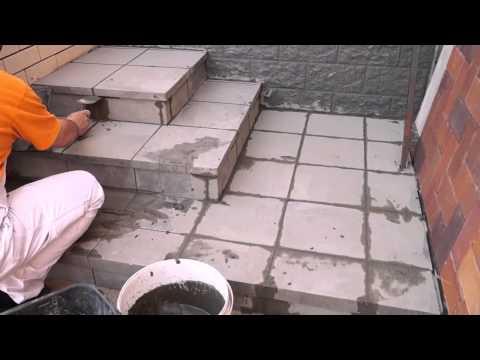 как правильно производить затирку швов клинкерных ступеней и напольной плитки
