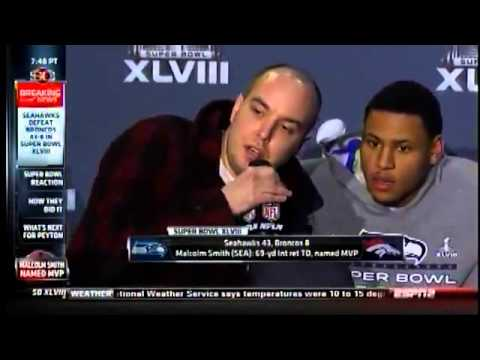 9/11 Truther Matthew Mills interrupts Super Bowl Post Game Interview