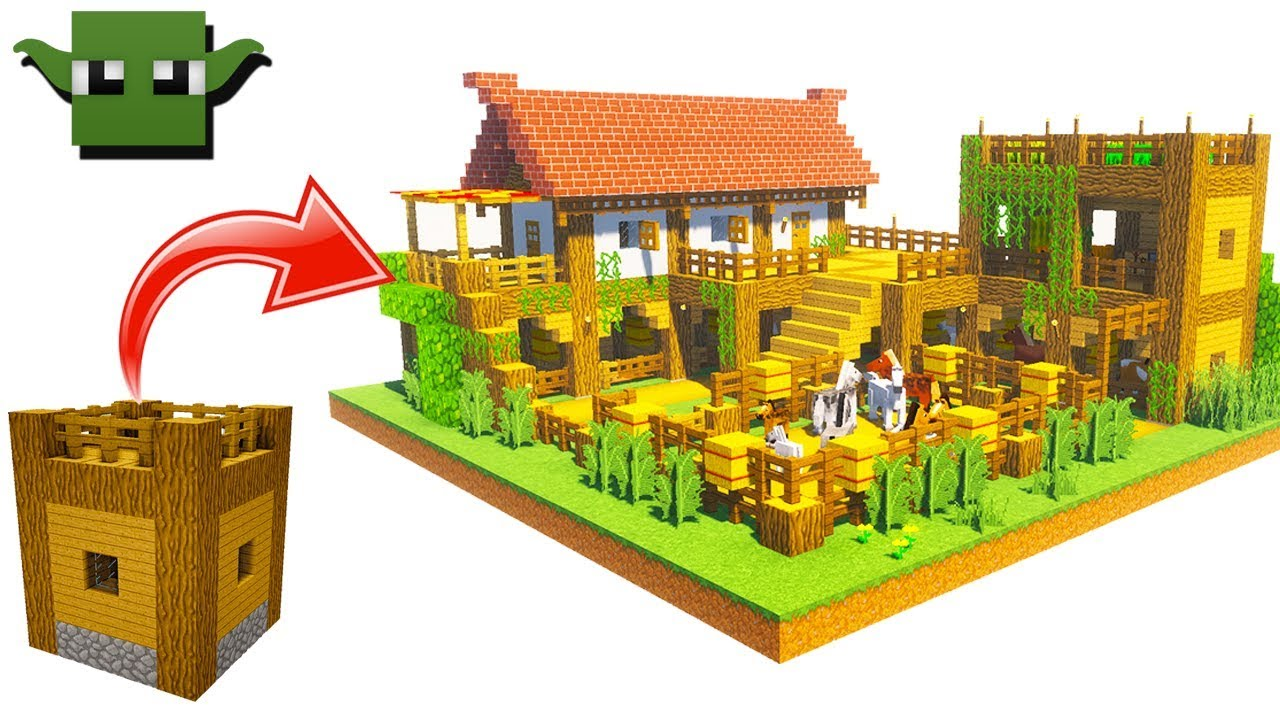 Minecraft medieval stables tutorial easy 5x5 building for How to go about building a house