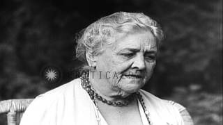 Mother of US President Franklin D. Roosevelt, Sara Delano Roosevelt during an in...HD Stock Footage