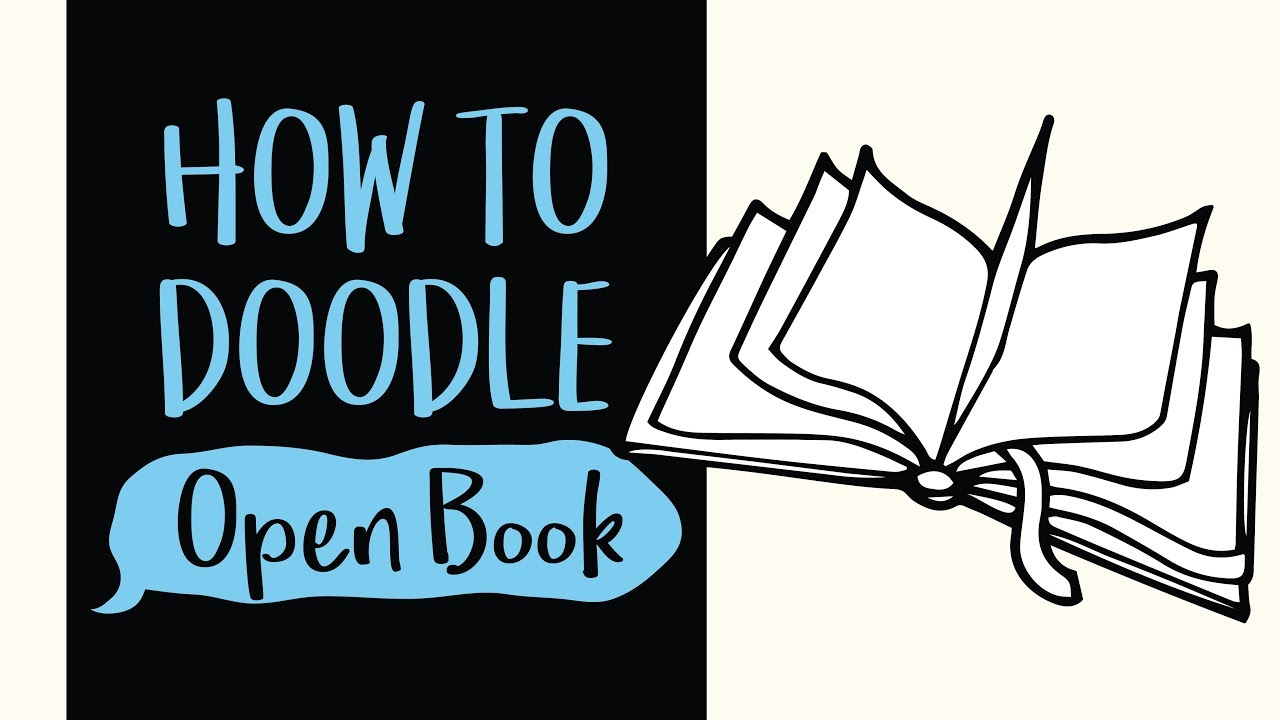 How to Draw an Open Book (Easy Step by Step Drawing and Coloring Tutorial)