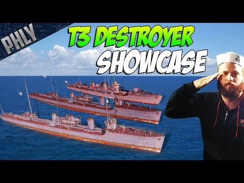 World Of Warships! Tier 3 DESTROYER SHOWCASE! Sail Them All! ⚓ Ep.3