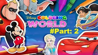 Disney Coloring World Android Gameplay Part 2 ★★★★★