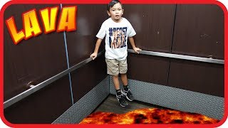 THE ELEVATOR FLOOR IS LAVA CHALLENGE! Family Fun Kids Pretend Playtime - TigerBox HD