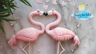 How to make a flamingo   Valetines day cake decorating 💓