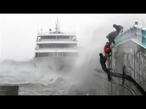 Typhoon Chaba Slams South Korea