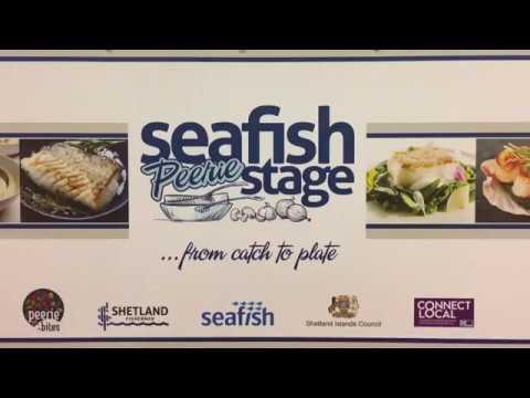 Shetland Food Fair Seafish Peerie Stage Demo