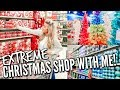 🎄EXTREME!! CHRISTMAS SHOP WITH ME 2019   AT HOME AND HOBBY LOBBY   DECORATE WITH ME   HickmanVlogs