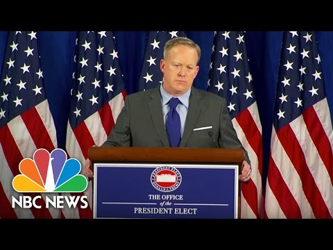 Incoming White House Press Secretary Sean Spicer Defends Donald Trump