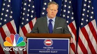 Incoming White House Press Secretary Sean Spicer Defends Donald Trump