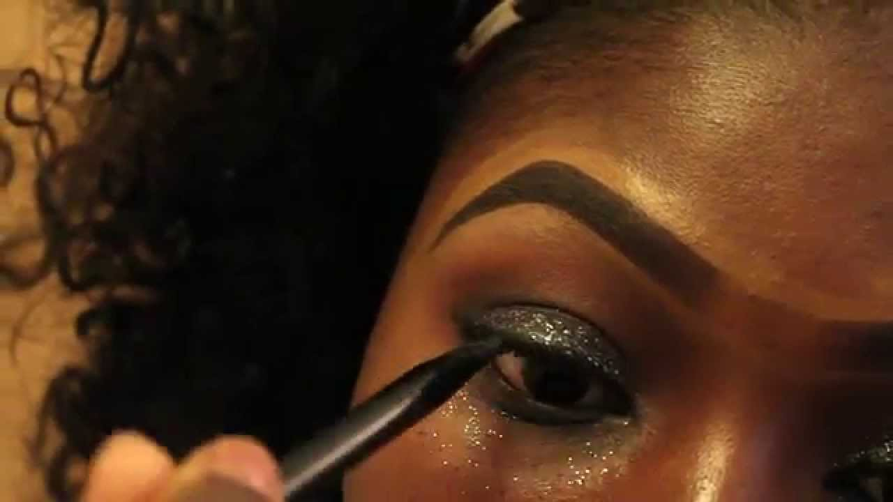 Makeup for black womenu0026quot;Super Easy Smokey Eyes with Glitter ...