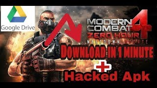 modern combat 4 mod apk data offline highly compressed