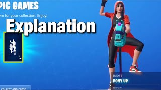 Fortnite pony Up Emote (How to unlock) fortnite battle royale