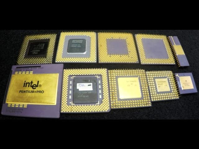 1X INTEL PENTIUM PRO VINTAGE  FOR GOLD SCRAP RECOVERY ABC