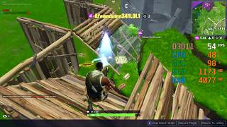 Radeon Vega 3 Graphics -- AMD Athlon 200GE -- Fortnite Battle Royale FPS Test 1152X648