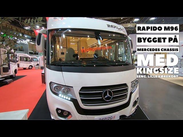 Rapido M96 - bygget på Mercedes chassis. Med Kingsize seng -  (2020 model)