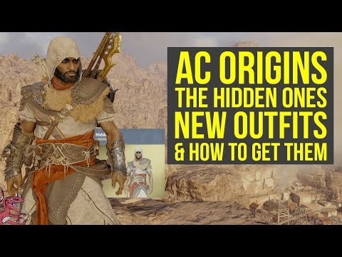 Assassins Creed Origins DLC NEW OUTFITS From The Hidden Ones & How To Get Them AC Origins Outfits