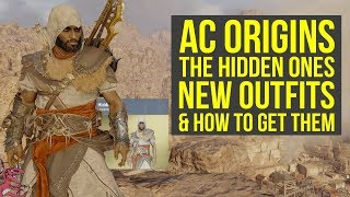 Assassins Creed Origins DLC NEW OUTFITS From The Hidden Ones  How To Get Them AC Origins Outfits