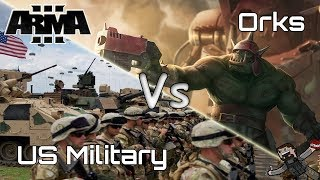 ARMA 3 - Custom Battles (US Military) vs (Orks)