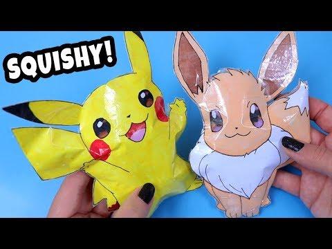 Pokemon Go Paper Squishy DIY! Pikachu and Eevee