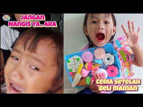 Ada Drama Ara Nangis Pengen Beli Mainan 😭 Terus Ara Jadi Penjual Eskrim