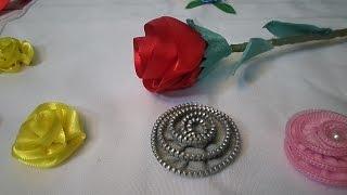 Como Fazer 03 Flores de materiais diferentes para aplique e Decoração