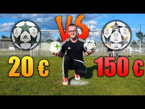 BALLON A 20 € VS BALLON A 150 € ! DUEL FOOT !