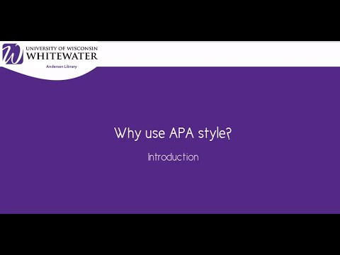 How to Cite Using APA Style (6th ed.): Introduction