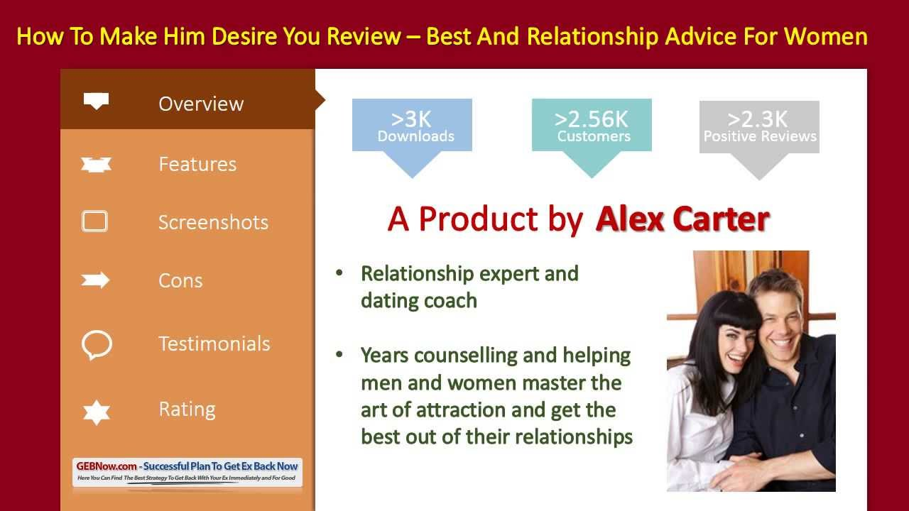 How To Make Him Desire You by Alex Carter - Review and Download - YouTube