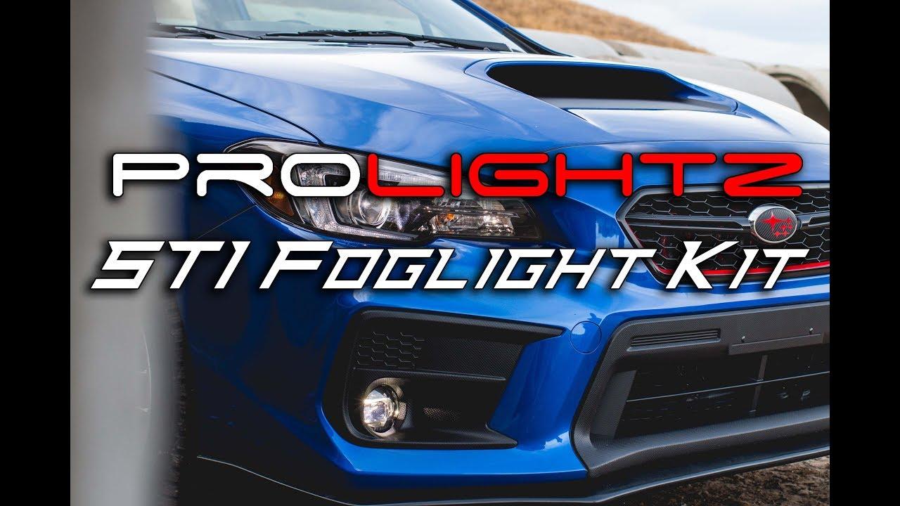 2018 Subaru Sti Prolightz Led Foglight Installation Youtube Carbon Fuse Box Cover