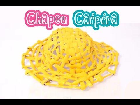 diy como fazer chapéu de palha caipira festa junina youtube