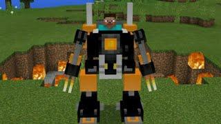 Как сделать мощного робота в Minecraft PE 1.1.3.52