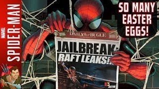 Spider-Man PS4 E3 2018 - Daily Bugle Easter Eggs! Mysterio, Daredevil, Black Cat, Silver Sable, More