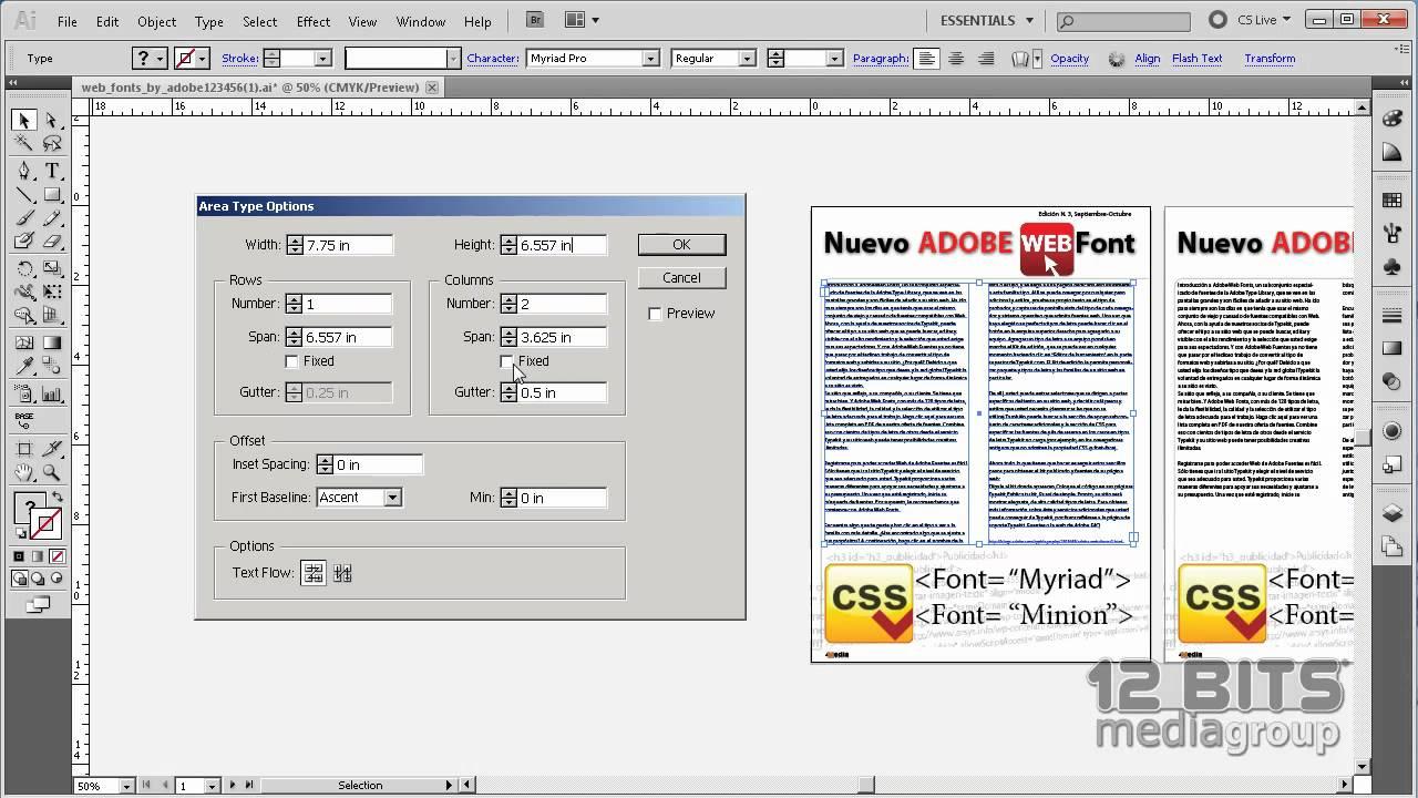 Columnas de Texto con Adobe Illustrator CS5 - YouTube