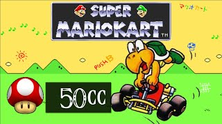 Super Mario Kart (SNES) [Part 7] - 50cc Mushroom Cup [Koopa Troopa] スーパーマリオカート