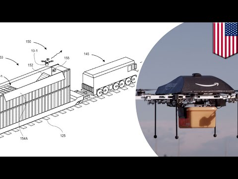 Amazon patents mobile drone delivery fulfillment centers from moving trains - TomoNews