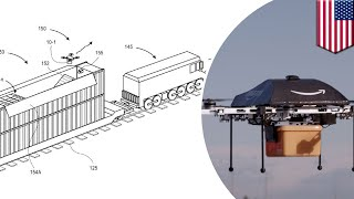Amazon patents mobile drone delivery fulfillment centers from moving trains   TomoNews