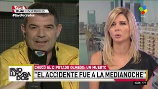 Habló Olmedo luego del accidente: