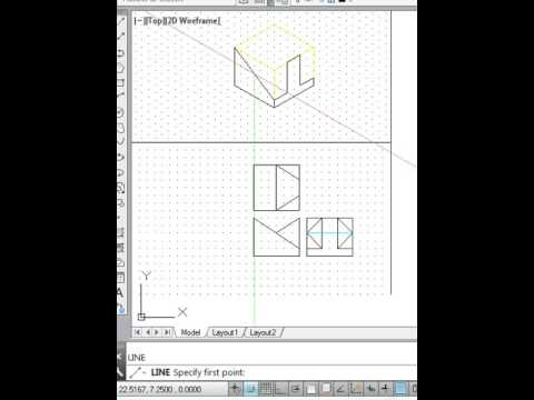isometric drawing example 1 youtube
