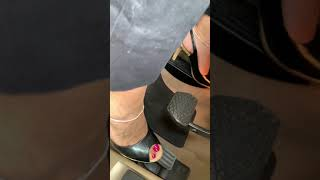 Sexy indian feet driving in heels