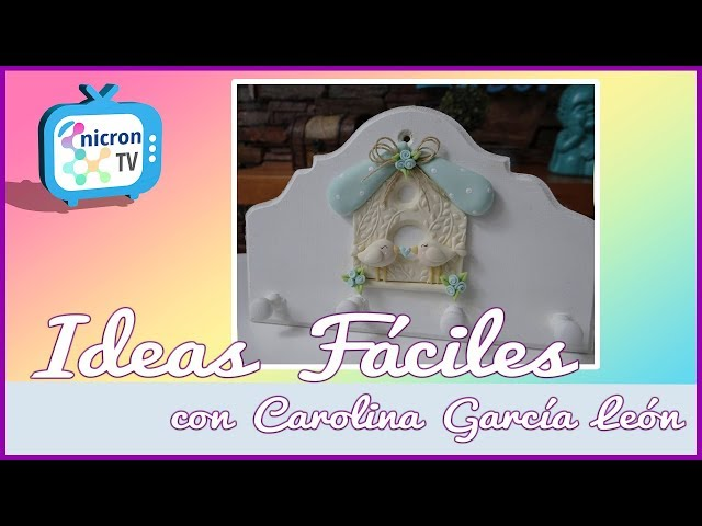 Ideas Faciles NICRON TV - Como hacer aplique de pajaritos a mano