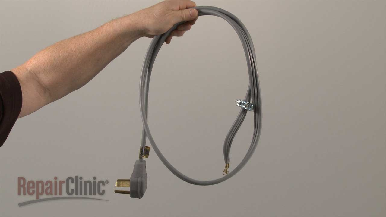 Electric Dryer Power Cord (3-Wire) Replacement #5304492440 - YouTube