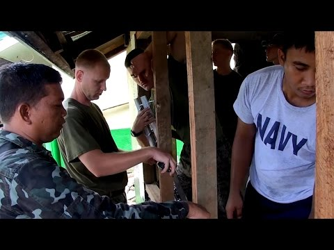 Phiblex 33 - Philippine Navy and US Marines Working Together at Palawig Elementary Renovation