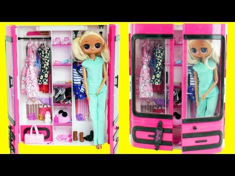 LOL Surprise Dolls Fake Barbies Dress Up in Closet | Toy Egg Video