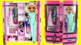 LOL Surprise Dolls Fake Barbies Dress Up in Closet | Toy Egg Video Video