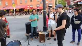 Beatboxing With Street Performer