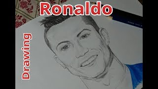 Drawing Cristiano Ronaldo first time || ArTs of Sho