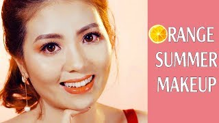 Trang điểm tone cam mùa hè - Orange Summer Makeup Look 20…