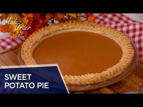 Sweet Potato Pie Recipe | Thanksgiving Recipes | Made To Order | Chef Zee Cooks